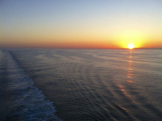 Sunset from Carnival Breeze © Ralph Grizzle