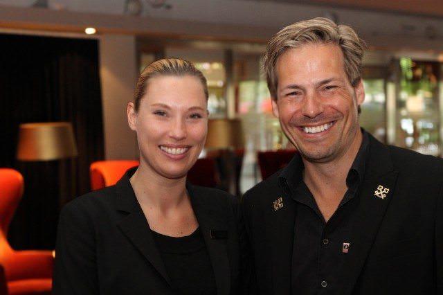 Ulrica Edgren, Hotel Manager, and Sean Naughton, Concierge