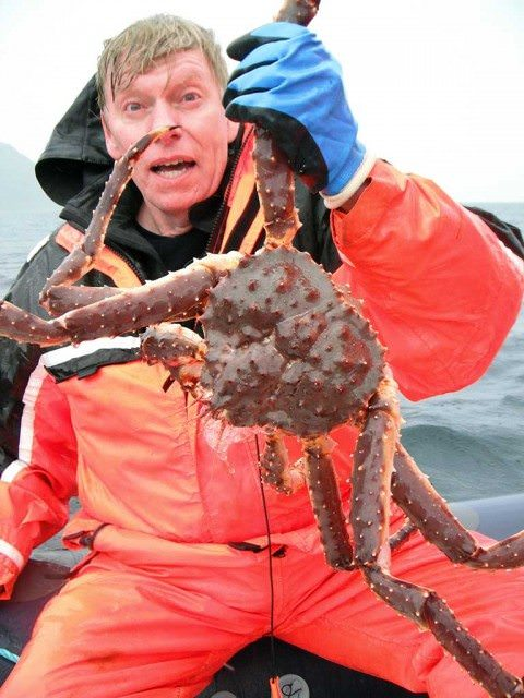 King crab in Norway held by Wallace Immen