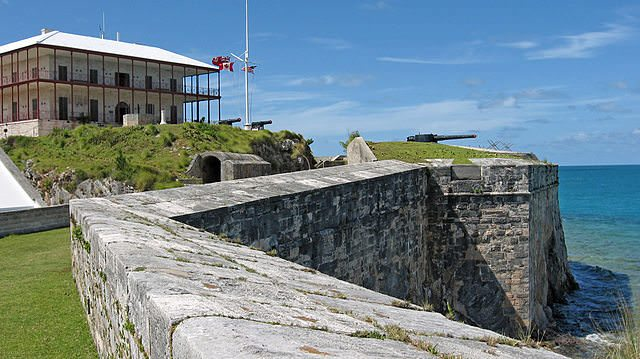 Bermuda's Royal Naval Dockyard is close to the Commissioner's House, pictured here. Photo courtesy of Wikipedia / Creative Commons