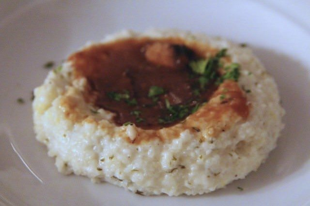 Mushroom Ragout on Savory Grits. © 2012 Ralph Grizzle