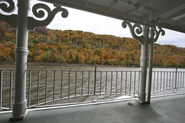 The splendor of fall foliage along the Mississippi River on the American Queen. © 2012 Ralph Grizzle