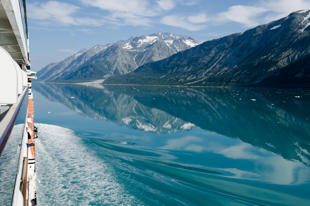 Sunny days in Alaska do exist, like this Caribbean-esque day in Glacier Bay this past August. But it is amazing in any weather condition. Photo © 2012 Aaron Saunders