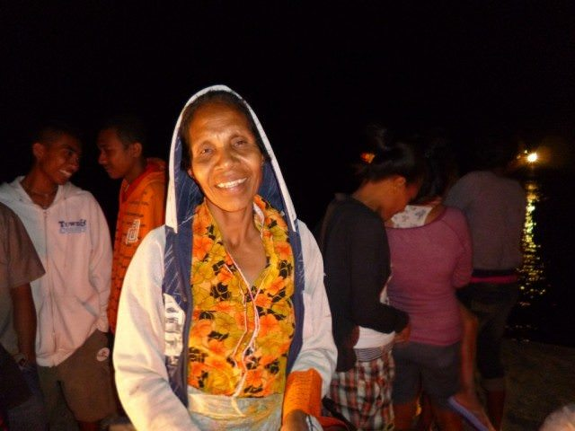 A welcoming smile at the night market on East Timor put on especially for Orion