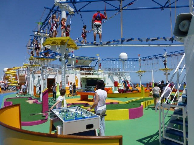Activity area on deck of Carnival Breeze