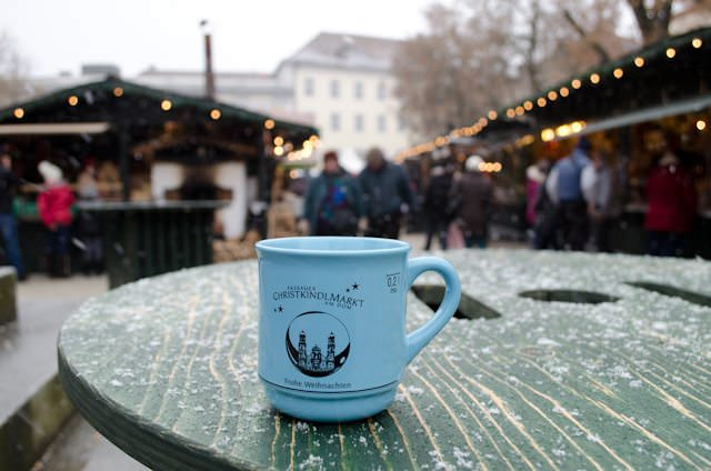 Gluhwein is easy to find at Christmas Markets.