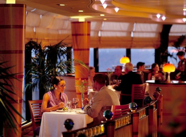 Dining at the upscale Palo aboard the Disney Magic. photo: Disney Cruise Line