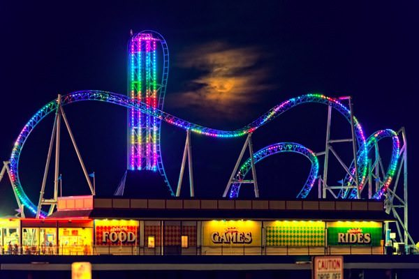 Pleasure Pier at Night