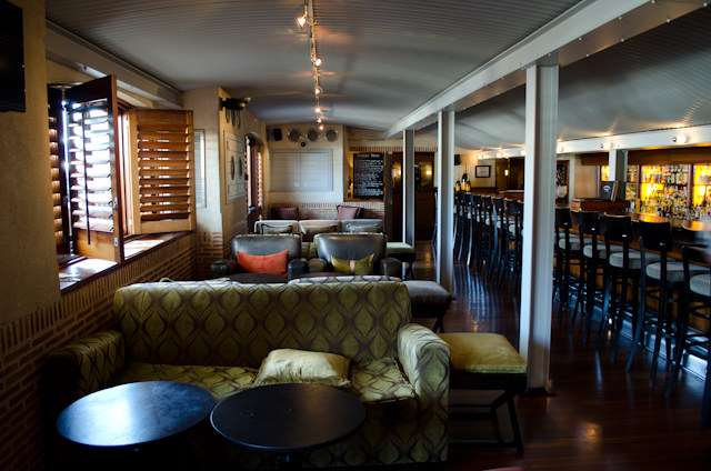 "The Bascule Whisky & Wine Bar is located ""below decks."" I love it. Photo © 2013 Aaron Saunders"