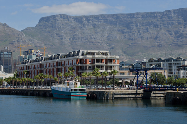 The Cape Grace Hotel is located along Cape Town's historic V&A Waterfront - and an easy 10-minute walk from the Silver Wind. Photo © 2013 Aaron Saunders