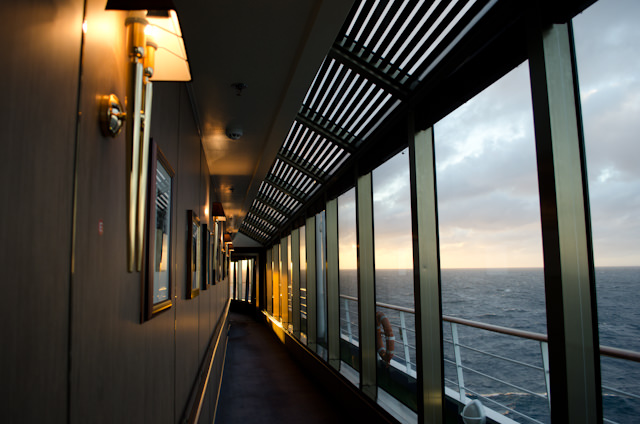 An Observation Lounge was added to Deck 9 aboard the Silver Wind during a refit a few years back. Photo © 2013 Aaron Saunders