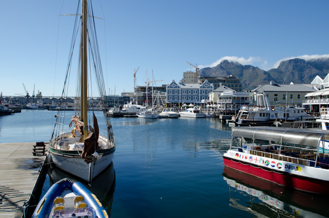 Cape Town, South Africa and its vibrant Victoria & Alfred Waterfront. Photo © 2013 Aaron Saunders