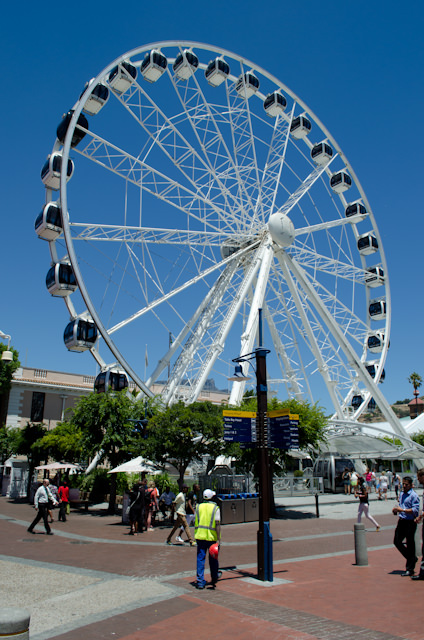 Cape Town's V&A Waterfront even has a full-blown Ferris Wheel. Photo © 2013 Aaron Saunders