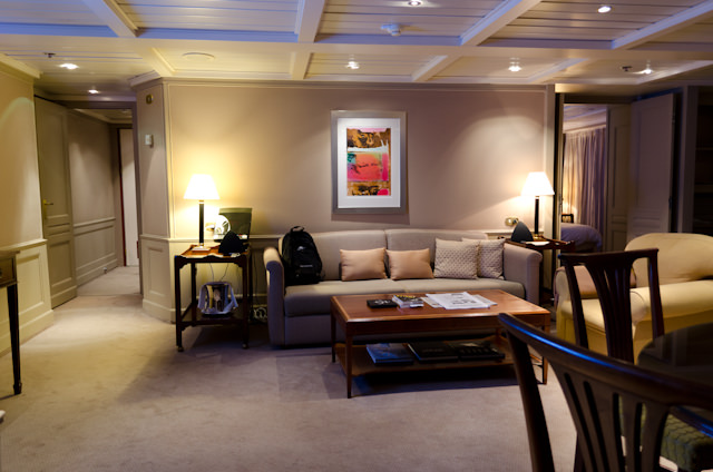 Note the beautiful accent lighting in the Grand Suites and Royal Suites. Boating, again Photo © 2013 Aaron Saunders