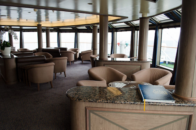 A relaxing morning in the Observation Lounge, Deck 9. Photo © 2013 Aaron Saunders