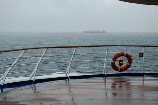 Passing through yet another storm onboard Silversea's Silver Wind. Photo © 2013 Aaron Saunders