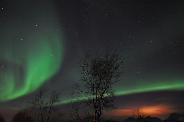 Cruisers who visit Tromso during the winter months will likely witness the spectacular Northern Lights. Photo courtesy Wikipedia / Creative Commons