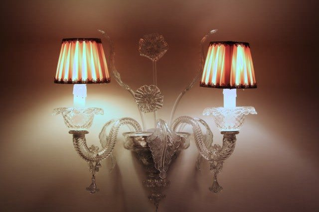 Good Night. Murano glass lamps in the hallways leading to guest rooms. ©2013 Ralph Grizzle