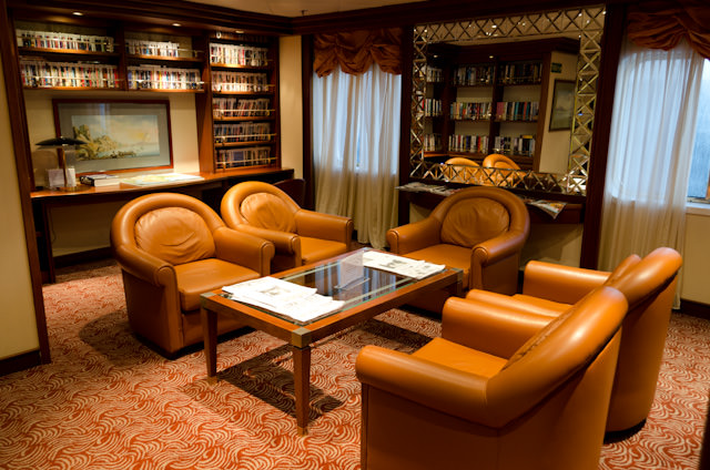 The Library aboard the Silver Wind is also just an excellent place to relax! Photo © 2013 Aaron Saunders