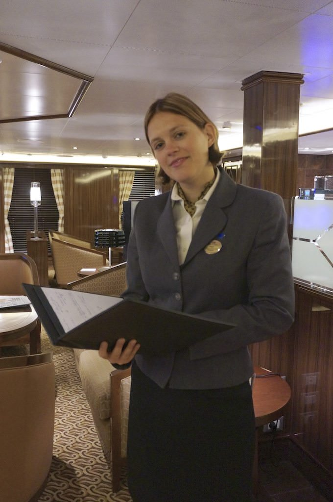 Hostess In The Concierge Lounge