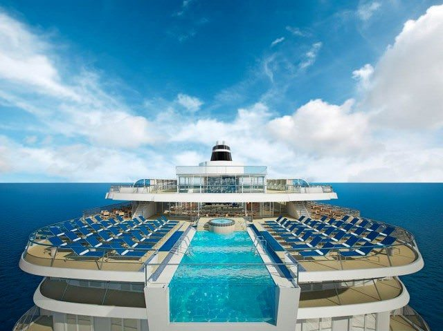 Viking Star Infinity Pool rendering. Photo courtesy Viking Ocean Cruises