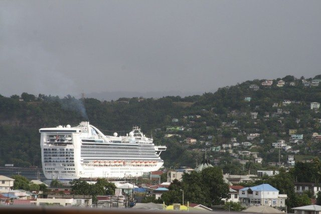Caribbean Princess in Roseau, Dominica.
