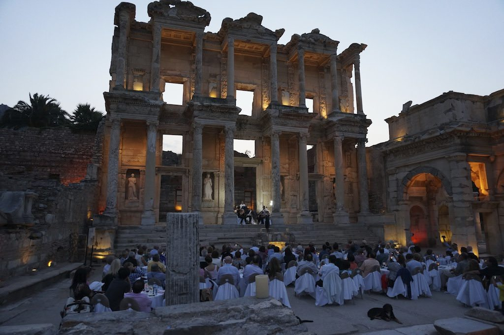 In The Evening Glow: The Library of Celsus