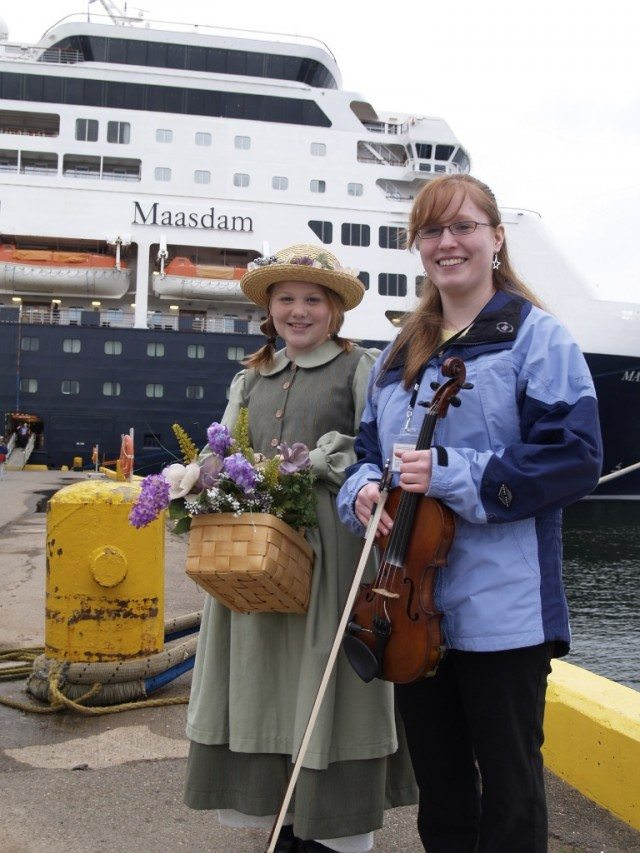 A warm welcome in Charlottetown, where we visited Anne of Green Gables on a shore excursion. © 2013 Ralph Grizzle