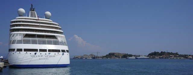 Silver Spirit in Corfu, Greece