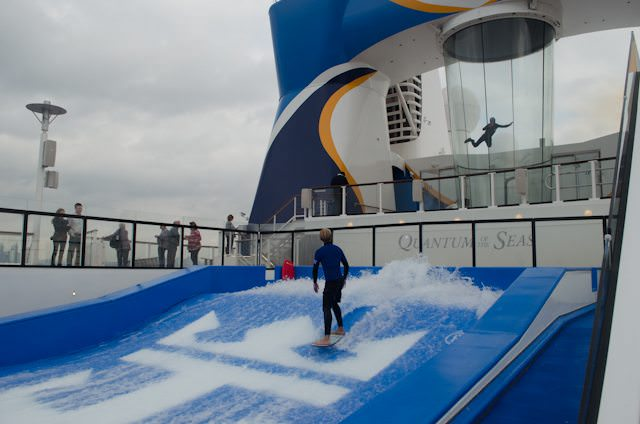 Flowrider in the foreground; RipCord by iFly in the background. Photo © 2014 Aaron Saunders