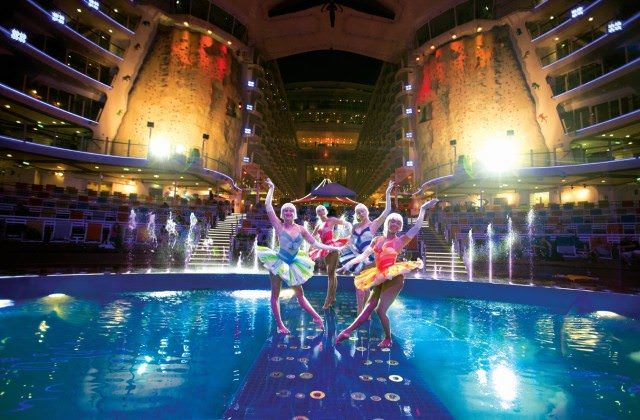 Allure of the Seas Aqua Theater. - courtesy Royal Caribbean