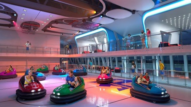 Quantum of the Seas bumper cars. - courtesy Royal Caribbean