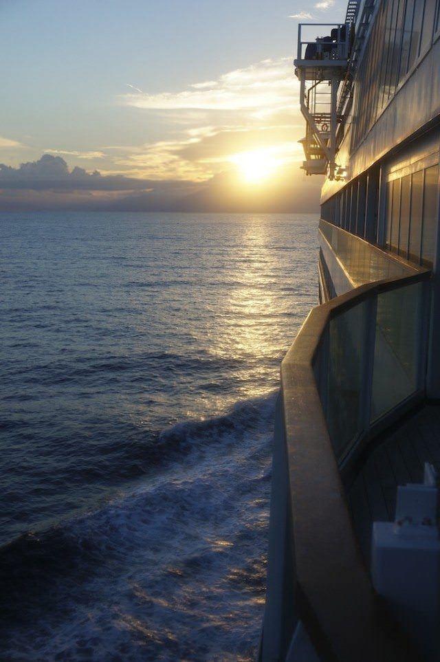 A beautiful morning on Seabourn Quest from Barcelona, Spain, to Athens, Greece. @ 2013 Ralph Grizzle