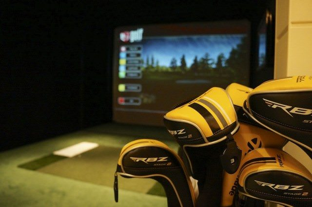 Europa 2 features two golf simulators with video-based training. © 2013 Ralph Grizzle