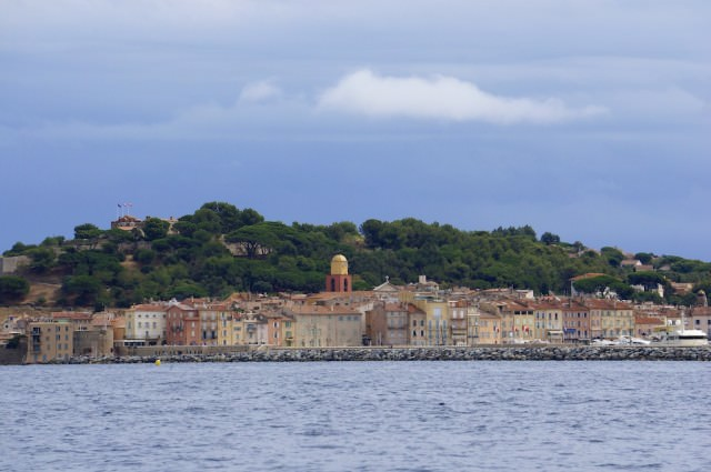 Saint-Tropez, only a tender ride away. © 2013 Ralph Grizzle