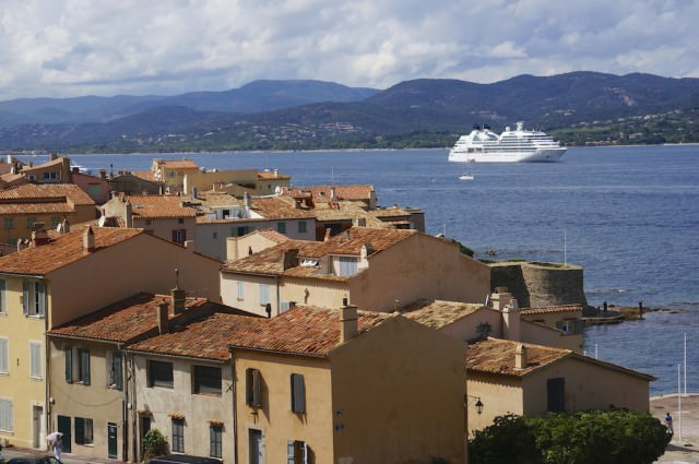 Seabourn Quest Anchored In Saint-Tropez. © 2013 Ralph Grizzle