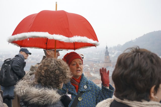 Our wonderful tour guide, Marlies Ida Klamp, informed us and made us laugh while touring Heidelberg. © 2013 Ralph Grizzle