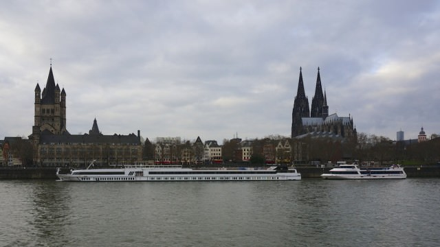 We are not alone - in Cologne. In fact, it turned out to be a busy day, shoulder-to-shoulder, heel-to-heel in the old town and at the cathedral. © 2013 Ralph Grizzle