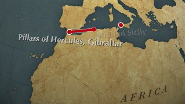 Move the Pillars of Hercules to the Strait of Sicily, and Sardinia
