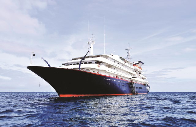 The ex-Renaissance Three seems perfectly suited to her new role as Silversea's adventurous Silver Galapagos. Photo courtesy of SIlversea
