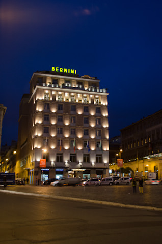 This evening, I'm spending an overnight stay at Rome's Hotel Bernini Bristol. Photo © 2013 Aaron Saunders