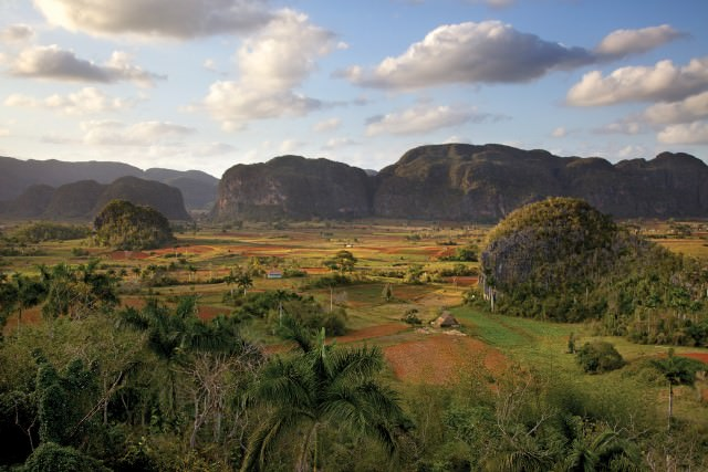 The Vinales Valley is another UNESCO World Heritage site in Cuba, where coffee and tobacco are farmed and produced traditionally. Photo courtesy of Cuba Cruise