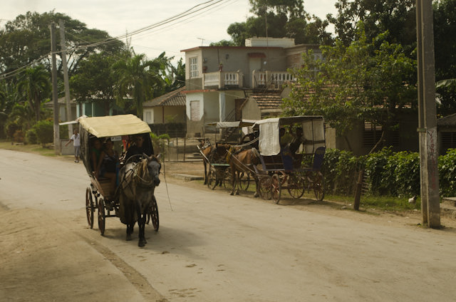 Stepping back in time on our way to Holguin, Cuba. Photo © 2014 Aaron Saunders