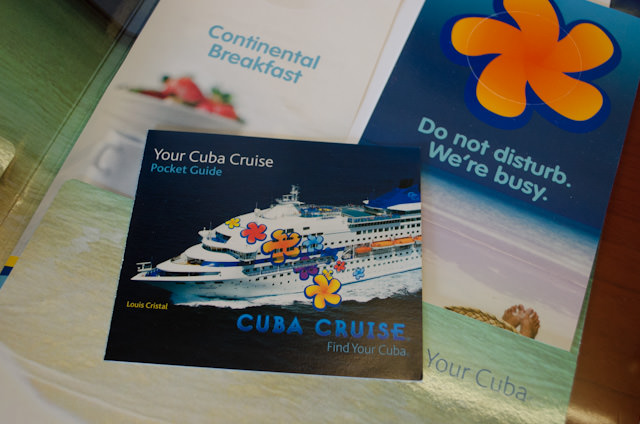 Everything onboard has been created exclusively by and for Cuba Cruise, from the deck plans to bar menus to daily programs. It's a fabulous touch you don't often see. Photo © 2014 Aaron Saunders