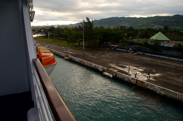 Coming alongside in Montego Bay earlier this morning. Photo © 2014 Aaron Saunders