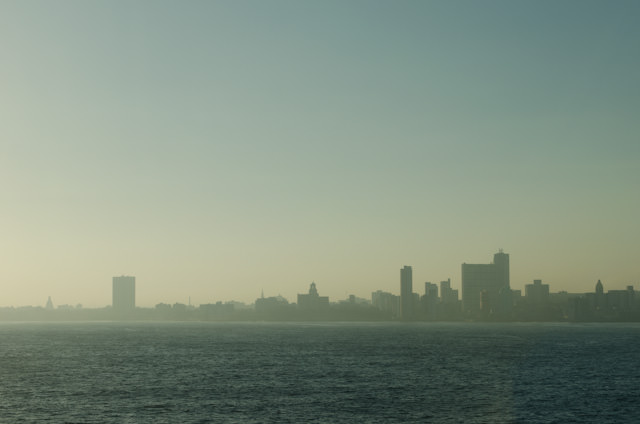 The Havana skyline comes into view early this morning. Photo © 2014 Aaron Saunders