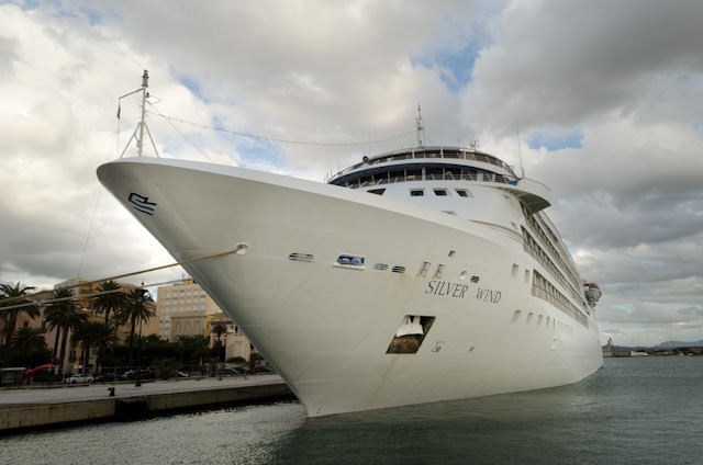 Finally, the sleek lines of Silversea's Silver Wind, as seen in Trapani, Sicily. Photo © 2013 Aaron Saunders