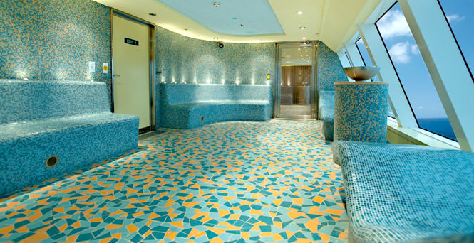 The soothing Laconium is my favorite section of the Cloud 9 Spa aboard Carnival Breeze. Photo courtesy of Carnival Cruise Lines
