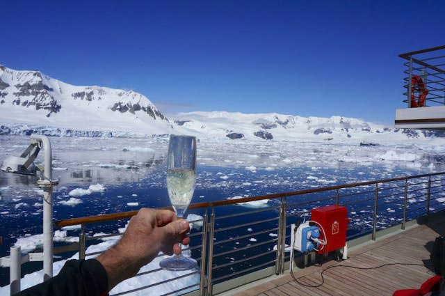 Champagne and Antarctica: a perfect match. @ 2013 Ralph Grizzle