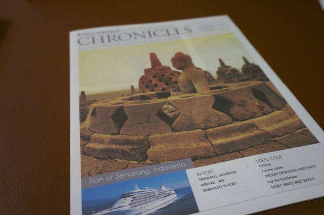 Each evening before retiring, I reviewed Chronicles to preview the next day's events. © 2014 Ralph Grizzle